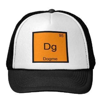 Dg - T engraçado do símbolo do elemento da química Boné