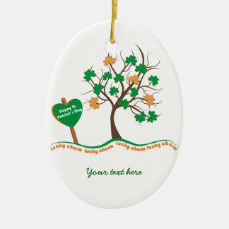 Dia afortunado do St. Patricks do trevo do trevo Ornamento Para Arvores De Natal