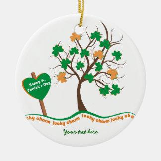 Dia afortunado do St. Patricks do trevo do trevo Enfeite Para Arvore De Natal