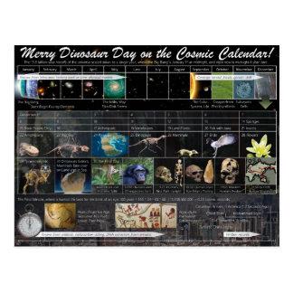 Dia alegre do dinossauro! Cartão (do Natal)