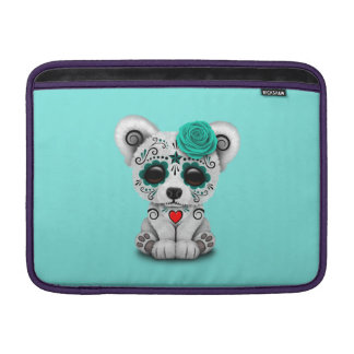 Dia azul do urso polar do bebê inoperante capa de MacBook air