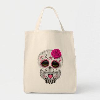Dia cor-de-rosa bonito da coruja inoperante do bolsas