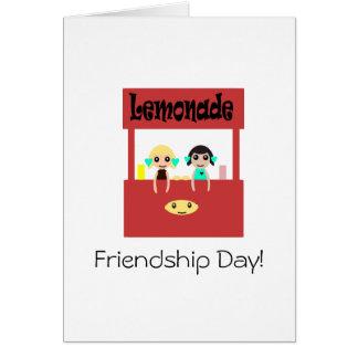 Dia da amizade: Suporte de limonada Cartão