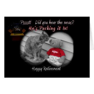 Dia da aposentadoria cartão