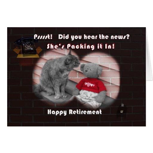 Dia da aposentadoria cartões