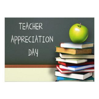 Dia da apreciação do professor. Cartões customizáv Convite Personalizado