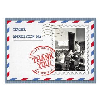 Dia da apreciação do professor. Cartões customizáv Convite