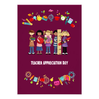 Dia da apreciação do professor. Cartões customizáv Convite Personalizados