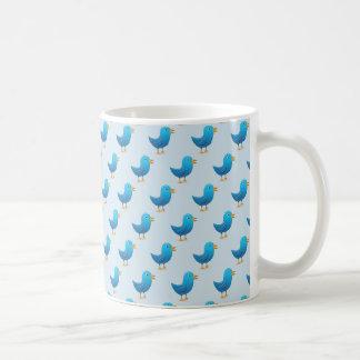 Dia da caneca de café do pássaro do Tweet