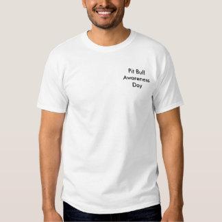 Dia da consciência do pitbull tshirts