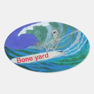 Dia da etiqueta inoperante da jarda do osso