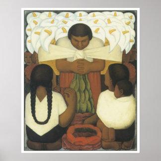 Dia da flor, Diego Rivera Poster