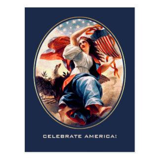 Dia da Independência. Cartão customizáveis das