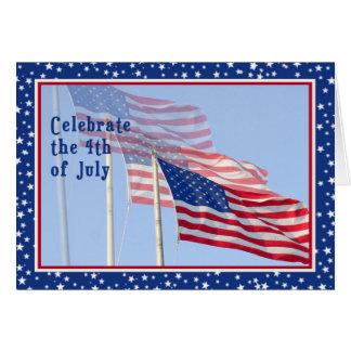 Dia da Independência com o cartão de três