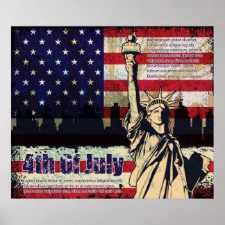 Dia da Independência de impressão dos Estados Unid