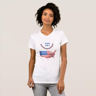 Dia da Independência país dos EUA da bandeira Tshirts