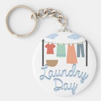 Dia da lavanderia chaveiro