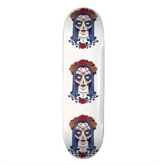 Dia da mulher do morto shape de skate 21,6cm