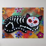 Dia da pintura inoperante do EL Gato do gato Poster
