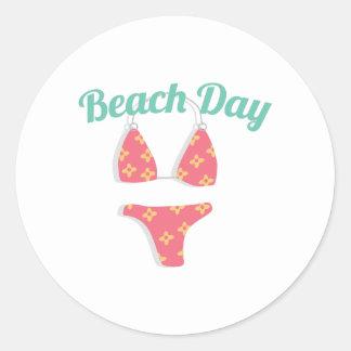 Dia da praia adesivo
