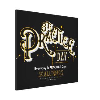 Dia da prática da rua de Scallywags Impressão De Canvas Envolvida