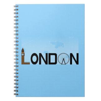 Dia da skyline de Londres Caderno