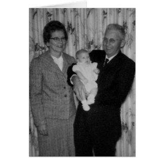 Dia das avós cartão comemorativo