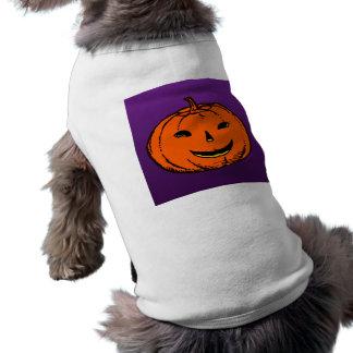 Dia das bruxas abóbora pumpkin camiseta para caes