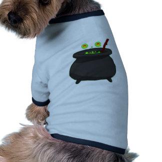 Dia das bruxas caldeiro cauldron camiseta para cães
