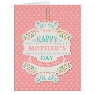 """Dia das mães - """"arte da palavra do dia das mães cartão comemorativo grande"""