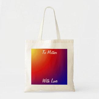Dia das mães/bolsa de canvas do professor, sacola tote budget