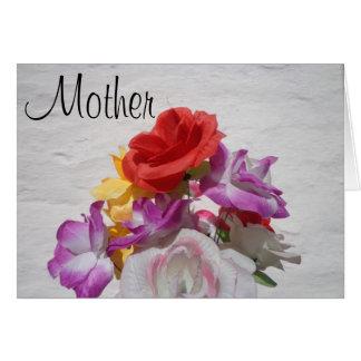 Dia das mães bonito da flor cartão
