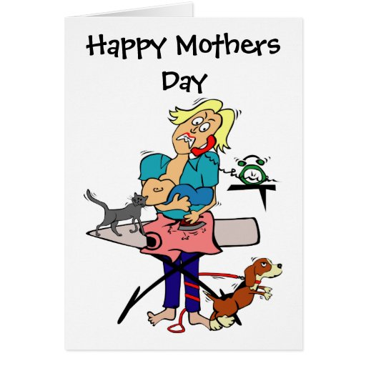 Dia das mães cómico cartão