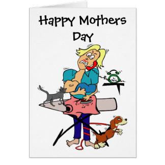 Dia das mães cómico cartão comemorativo