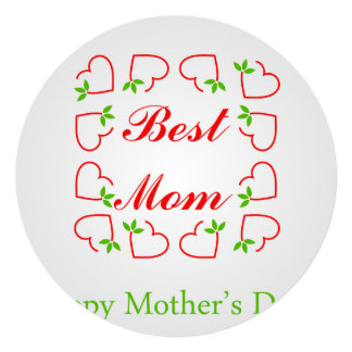 Dia das mães convite quadrado 13.35 x 13.35cm