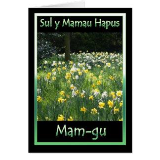 Dia das mães, Daffodil, cartão de língua de Galês