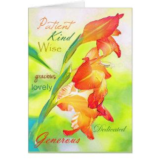 Dia das mães do tipo de flor cartão comemorativo