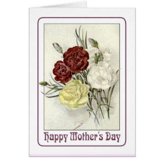 Dia das mães do vintage cartoes