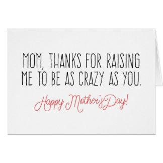 Dia das mães engraçado cartão comemorativo