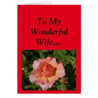 Dia das mães feliz a minha esposa! cartão comemorativo