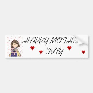 Dia das mães feliz adesivo