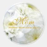 Dia das mães feliz adesivo redondo