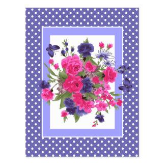 Dia das mães feliz. Borboletas & cartão das flores