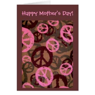 Dia das mães feliz! - Cartão retro do Olhar-Cumpri