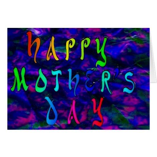 Dia das mães feliz com fundo holográfico cartoes