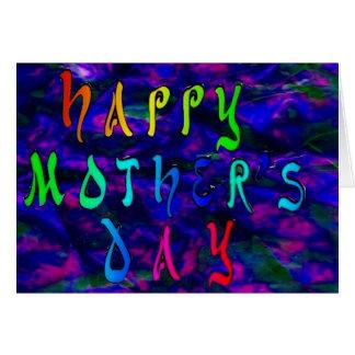 Dia das mães feliz com fundo holográfico cartão comemorativo