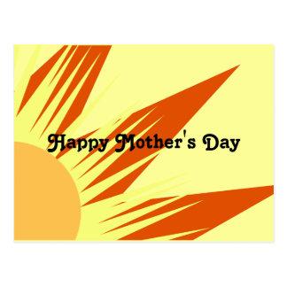 Dia das mães feliz da luz do sol cartão postal