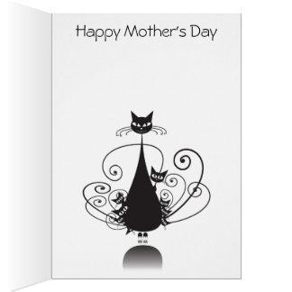 Dia das mães feliz das caudas de O nove do gato - Cartao