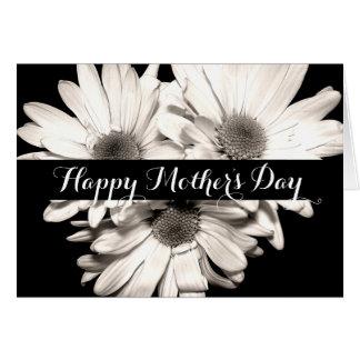 Dia das mães feliz das margaridas cartão de nota