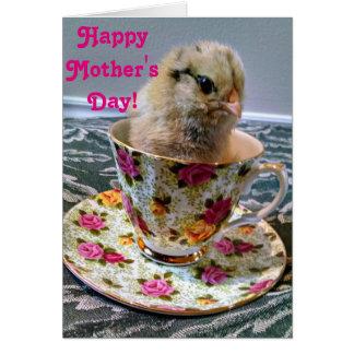 Dia das mães feliz de seu pintinho favorito cartão comemorativo